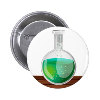 science Flask 2 Inch Round Button