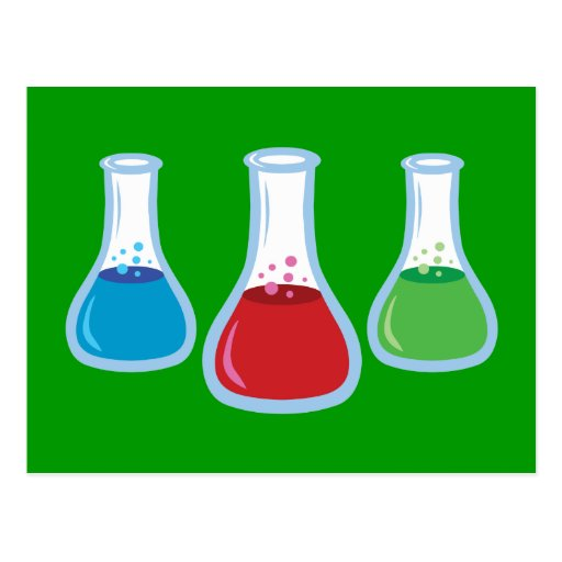 Science Flasks Post Cards