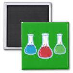 Science Flasks Square Magnet