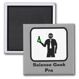 Science Geek Pro Square Magnet