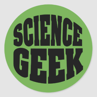 Science Geek Round Sticker