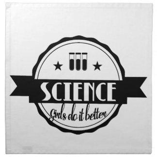 Science. Girls Do It Better. Napkin
