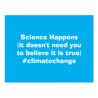 Science Happens Climate Change Postcard