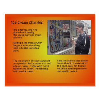Science, Ice cream changes Print