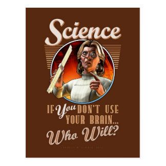 Science: If YOU Don't Use Your Brain... Postcard