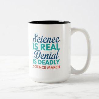 Science Is Real Two-Tone Coffee Mug