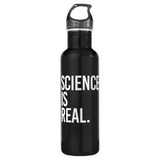 Science is Real - - white - 710 Ml Water Bottle