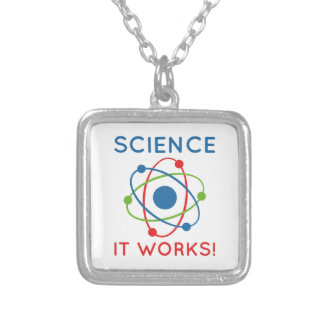 Science It Works! Silver Plated Necklace