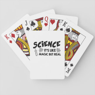 SCIENCE IT'S LIKE MAGIC SCIENTIST Funny Gift Playing Cards