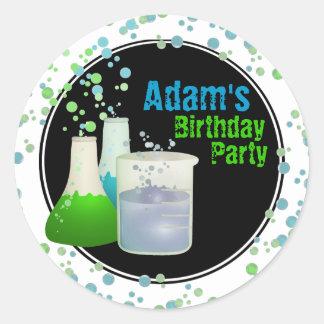 Science Lab Birthday Round Sticker