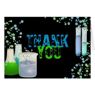 Science Lab Birthday Thank You Card