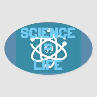 Science = Life Oval Sticker