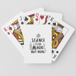 Science Like Magic But Real  Scientists Gifts Playing Cards