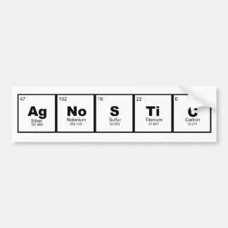 Science lovers agnostic perodic table of elements bumper sticker