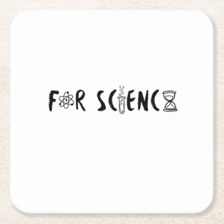 Science Lovers Scientists Gifts Square Paper Coaster