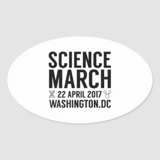Science March Oval Sticker
