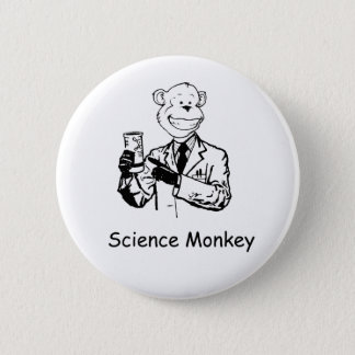 Science Monkey 2 Inch Round Button