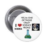 science nerd 2 inch round button
