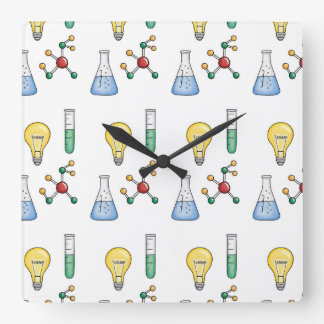 Science of Life Square Wall Clock