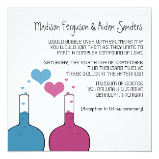 Science of Love Wedding Invite