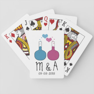 Science of Love Wedding Playing Cards