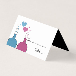 Science of Love Wedding Tented Place Cards