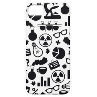 Science Pattern black on white iPhone 5 Case