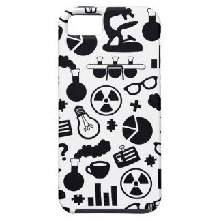 Science Pattern black on white iPhone 5 Cover