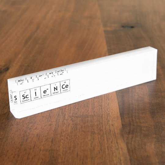 ScIeNCe Periodic Table Elements Word Chemistry Nameplates