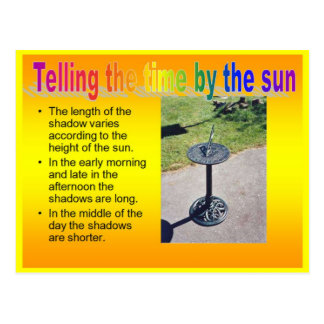 Science, Physics, Telling the time by the sun Postcard