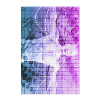 Science Research as a Concept for Presentation Acrylic Wall Art
