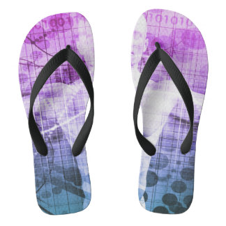 Science Research as a Concept for Presentation Flip Flops