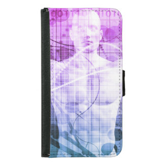 Science Research as a Concept for Presentation Samsung Galaxy S5 Wallet Case