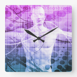 Science Research as a Concept for Presentation Square Wall Clock