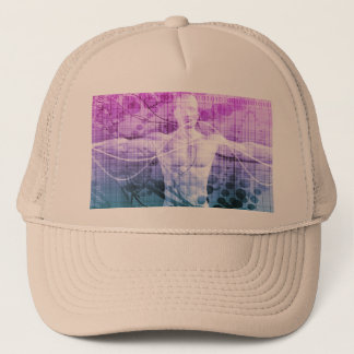 Science Research as a Concept for Presentation Trucker Hat
