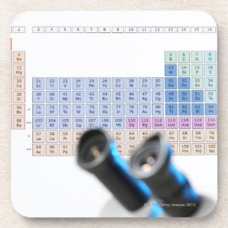 Science research, conceptual image. Periodic Drink Coasters
