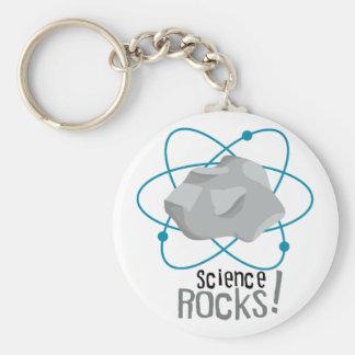 Science Rocks! Basic Round Button Keychain