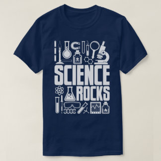 Science Rocks Lab Chemistry Biology Equipment Tee