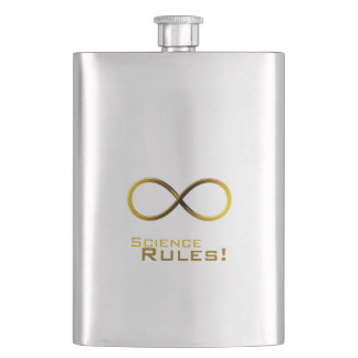 Science Rules! Golden Infinity symbol Flask
