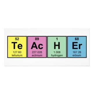 Science Teacher Chemical Elements Rack Card