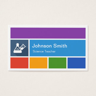 Science Teacher - Creative Modern Metro Style Business Card