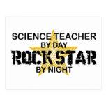 Science Teacher Rock Star by Night