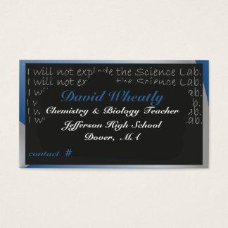 Science Teacher's Chalk Board Business Card