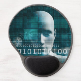 Science Technology Background as a Digital Binary Gel Mouse Pad
