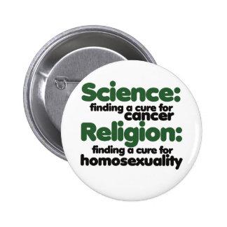 Science VS Religion 2 Inch Round Button