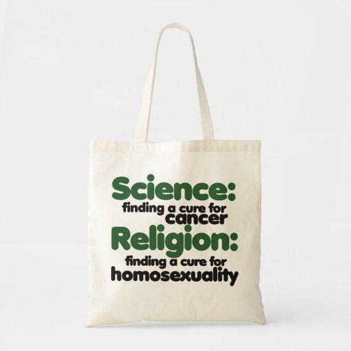 Science VS Religion Tote Bag