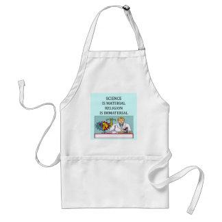 science vs religion joke standard apron