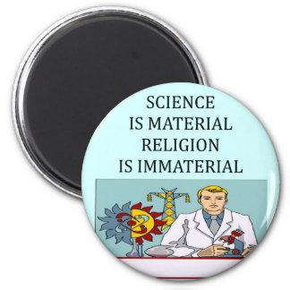 science vs religion joke magnet