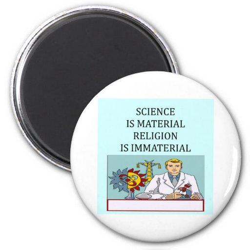 science vs religion joke refrigerator magnets
