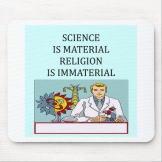 science vs religion joke mouse pad